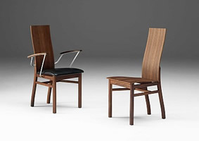 a/chair GM 536 and chair GM 535- walnut